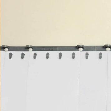 Rideau à lanières blanc opaque recouvrement 50%