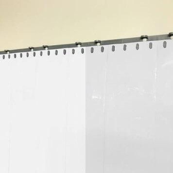 Rideau à lanières blanc opaque recouvrement 100%