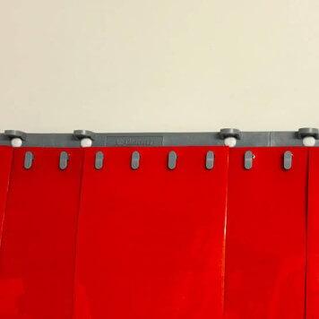 Rideau standard orange opaque recouvrement 50%