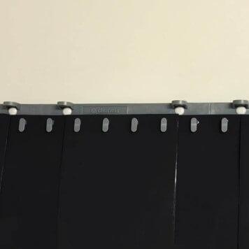 Rideau standard noir opaque recouvrement (0%