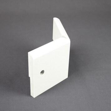 Angle Externe pour Plinthe Polyéthylène Blanche avec découpe pour U de sol