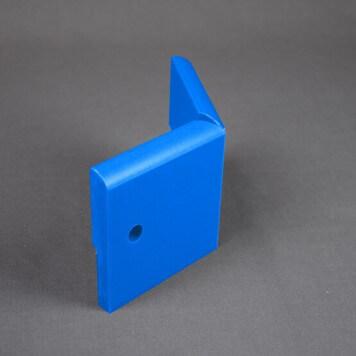 Angle Externe pour Plinthe Polyéthylène Bleue avec découpe pour U de sol