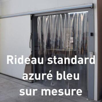 Rideau standard azuré bleu transparent sur mesure