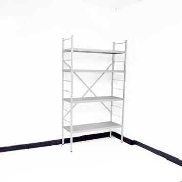 Rayonnage alimentaire aluminium anodisé -Base- Hauteur 1770 mm