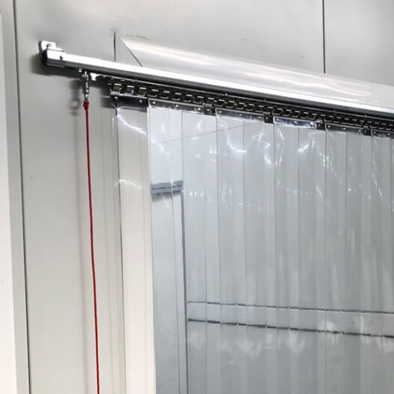 Rideau à lanières PVC coulissant standard neutre - R=77%