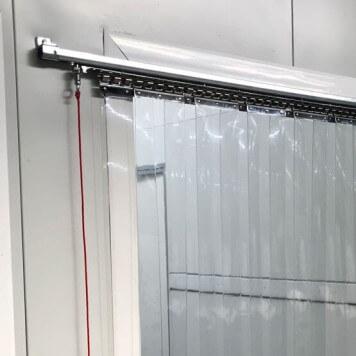 Rideau à lanières PVC coulissant standard neutre - R=100%