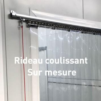 Rideau à lanières PVC coulissant - Sur mesure