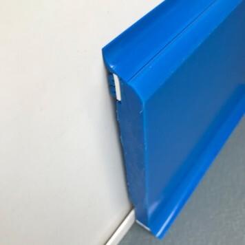 Plinthe à joints souples Polyéthylène bleue