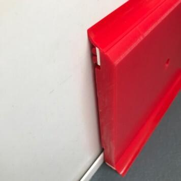 Plinthe à joints souples Polyéthylène rouge