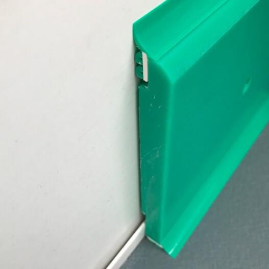 Plinthe à joints souples Polyéthylène verte