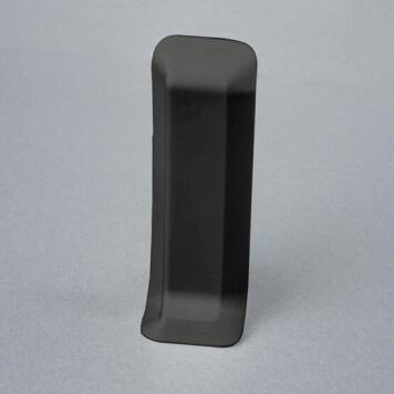 Embout gauche gris foncé pour plinthe adhésive étanche à lèvres souples
