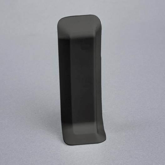 Embout droit gris foncé pour plinthe adhésive étanche à lèvres souples