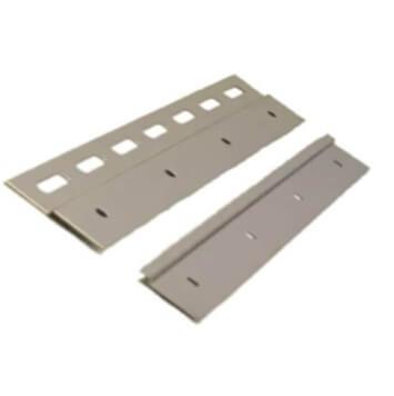 Plaque/Contreplaque 300 mm + 4 rivets pour rideau à lanières PVC souple trafic intensif