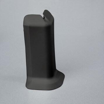 Angle externe gris foncé pour plinthe adhésive étanche à lèvres souples