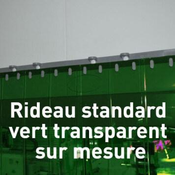 Rideau standard vert transparent sur mesure