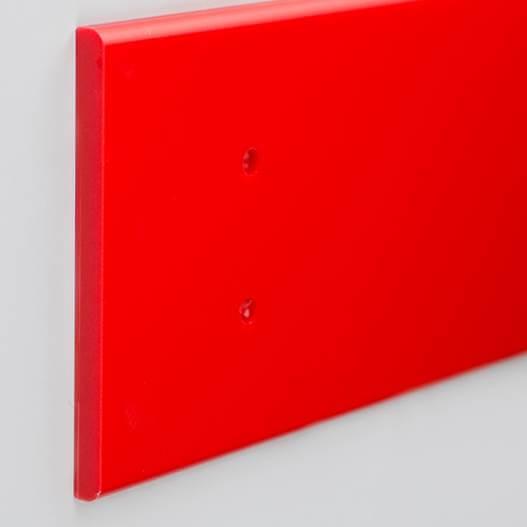 Lisse de protection Polyéthylène rouge