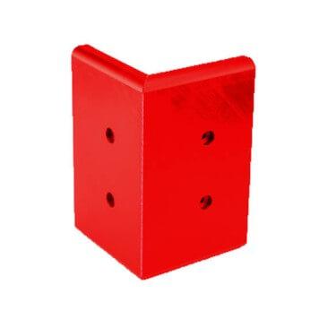 Angle externe pour lisse de protection murale PEHD rouge