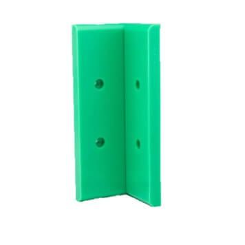 Angle interne pour lisse de protection murale PEHD verte