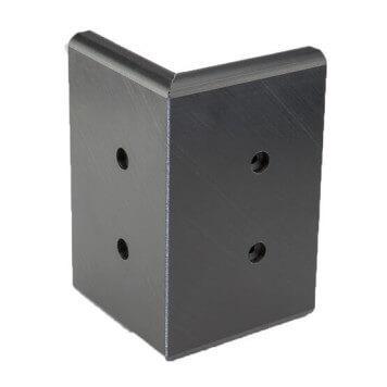 Angle externe pour lisse de protection murale PEHD noire