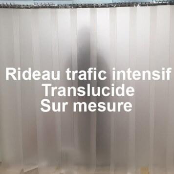 Rideau translucide trafic intensif sur mesure