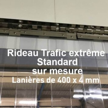 Rideau standard trafic extreme sur mesure 400x4mm