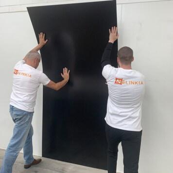 Plaque PVC noire 2.5 mm satinee pour renover vos murs souple