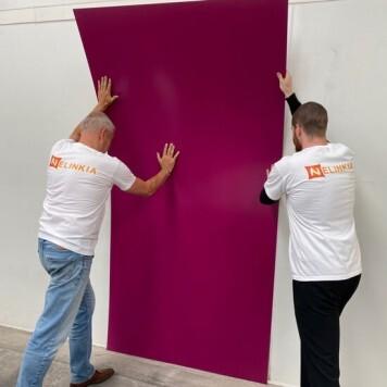 Plaque PVC pourpre 2.5 mm satinee pour renover vos murs souple