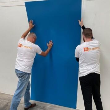 Plaque PVC bleu ciel 2.5 mm satinee pour renover vos murs souple