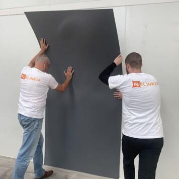 Plaque PVC gris dauphin 2.5 mm satinee pour renover vos murs souple
