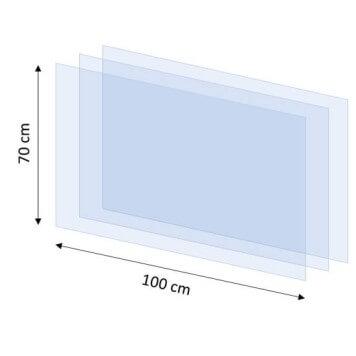 Lot de 3 films de protection pour écran suspendu 1000 mm x 700 mm