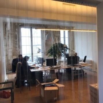 Kit lanieres PVC separation bureau openspace