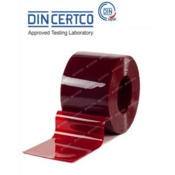 Rouleau lanière PVC soudure EN1598 rouge au metre