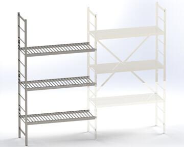 Différence de réglage du pas entre les tablettes de deux échelles de stockage
