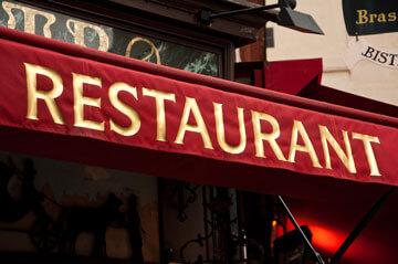 Devanture de restaurant