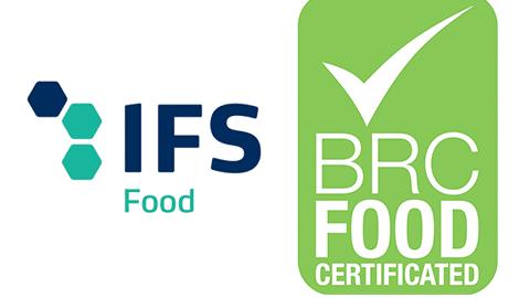 Logo référentiels IFS et BRC FOOD