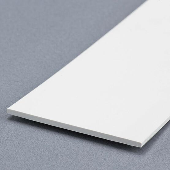 Plat PVC blanc de 60 mm